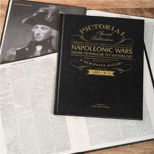Personalised Napoleonic Wars Newspaper Book with gift box